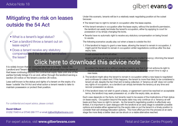 Advice Note 19